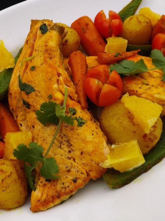 saumon poêlé à l'orange avec ces petits légumes 2